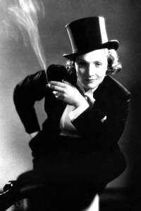 Though Marlene Dietrich was groomed to be the next Greta Garbo, she was her own woman who managed to remain popular by continually reinventing herself and only gave up performing after rupturing a hip in the 1970s. Her public image always pertained to defying sexual norms yet retained her femininity through her hairstyle and her deep sultry German voice.