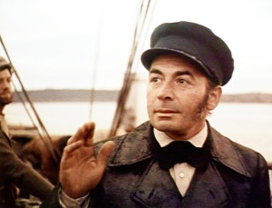 While watching the 1956 Moby Dick you have to wonder whether Leo Genn is conflicted about wanting to throw Captain Ahab to the sharks as Starbuck. Then again, his Quaker sense of honor wouldn't allow him.