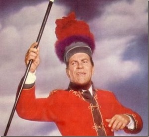 "It's hard to imagine anyone else but Robert Preston as ""Professor"" Harold Hill a role he originated in The Music Man on film and Broadway which he won a Tony for. Yet, when casting was underway, Jack Warner wanted Frank Sinatra. Luckily, Meredith Willson insisted on the matter because Sinatra would've ruined it."
