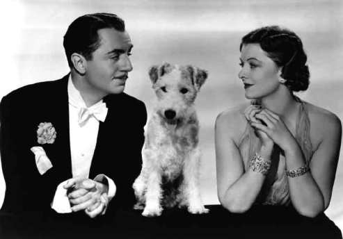 William Powell and Myrna Loy were among one of Hollywood's most famous onscreen couples starring in 14 films together during the 1930s and 1940s. However, their most famous pairing has to be in the six Thin Man movies in which they play America's favorite pair of wealthy, alcoholic, and crime solving pet owners Nick and Nora Charles.