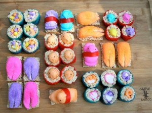 Not sure if Rice Krispie peeps sushi is actually sushi. Yet since it's a creative endeavor no matter how inedible and would do well in a peep diorama contest, into this post it goes.