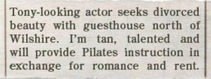 Man, this guy may be a homeless gold digger but at least he admits and is willing to work hard for his keep as a Pilates instructor/giggolo. Now I haven't heard that before.