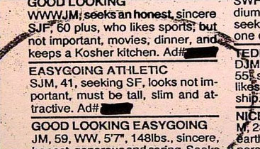 Funny personals ads