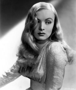 Veronica Lake was star who received critical acclaim in movies like Sullivan's Travels and as a femme fatale in film noir in the 1940s. She was also a major fashion icon with her signature