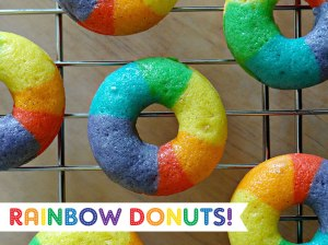 Of course, some people might associate rainbow donuts with some other event, especially in San Francisco if you get my drift. Yet, these are pretty.