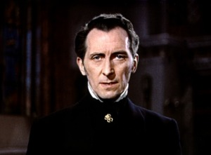 "Motivational poster of Peter Cushing: ""Killed Dracula with a pair of candle stick holders. Blew up Alderaan. Fought Daleks. Has been at the Earth's Core. Killed more vampires than Buffy. Outsmarted Moriarty. Verbally bitch-slapped Darth Vader. I beg your pardon, but do you really think Chuck Norris can top that?"""
