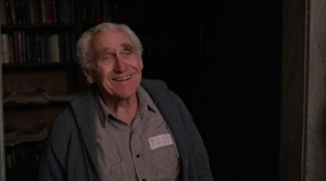 For those who may not recognize him, James Whitmore was the prison librarian with the pet bird from The Shawshank Redemption. He was also known as the only actor nominated for an Academy Award for playing a role he did for a one man show in Give Em' Hell Harry! Also was a spokesman for MiracleGro.