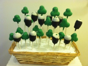 Now I've had cake pops on a lot treat posts, yet I'm not sure if a Guinness pint one is a good idea. Seriously, it's beer.
