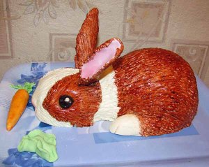 Now this might be a tad too realistic in regards to the Easter Bunny, but it's quite cute. Not sure where its cotton tail is though. But like the carrot.
