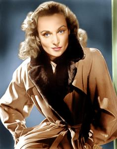 Carole Lombard was famous for her performances in screwball comedies playing highly neurotic, energetic, and off-beat characters. She's also remembered for marrying Clark Gable and dying in a plane crash.