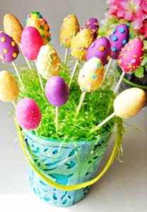 Even better, you can make them all kinds of colors, decorate them, and put them into a bouquet centerpiece.