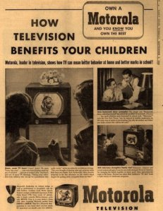 Then again, this ad comes from the 1950s when TV was a new thing an there were only a few channels anyway. Still, you wouldn't be saying that nowadays.
