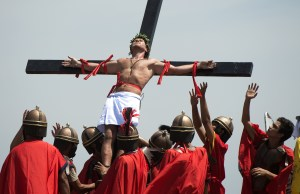 In the Philippines, it's not unusual pn Holy Week for some devout Catholic men to show their adoration for Christ through self-crucifixion and self-flagellation. Yes, this is insane that even the Roman Catholic Church has tried to discourage the practice there but to no avail.