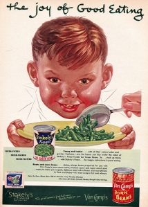 Yeah, this boy's green beans are basically a side for the real main course, the Donner Party special. Seriously, this boy makes me not want to eat my vegetables ever again.