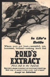 Sure Pond's Extract might be handy for cuts, bruises, wounds, and lacerations. However, when it comes to actual life threatening battle wounds, then you're probably shit out of luck.