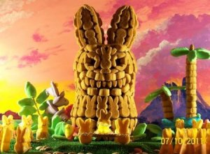 And it seems like they're offering some helpless white damsel peep as a sacrifice to their giant bunny peep god. Yeah, where is our great white hero now?