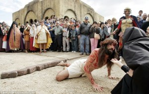 In Argentina, there's a kitschy theme park called Tierra Santa which is devoted to telling the story of Jesus. On Holy Week, they reenact the Passion within the parks walls. It's said to attract a lot of tourists.