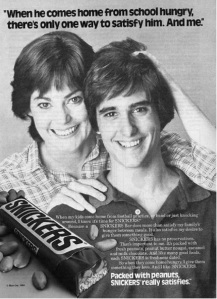 I don't know about you, but I find this Snickers ad very disturbing. I mean it seems that this mother and son relationship seems more akin to what I've seen on The Manchurian Candidate but I'm not so sure about the brainwashing. I mean look at the mom's face. She just seems so creepy.