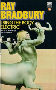 Man, that seems like a cross between a centaur with humans on his hands that resemble him. Now this makes me wonder if Ray Bradbury was on some psychedelic drugs when he thought this would make a great idea for a cover.