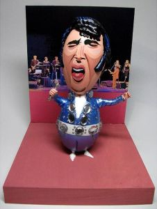 Interestingly, Elvis Presley looked a lot like this during his Las Vegas years. Of course, this is what happens when you've been on too many drugs and peanut butter and banana sandwiches.
