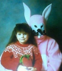 Yeah, I'm sure this bunny doesn't seem like he could go on homicidal warpath and kill a bunch of teenagers. Yeah right.