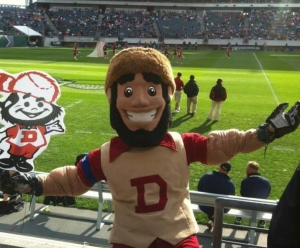 Now Boone was the official mascot for DU until he was forced to retire in 1998 over concerns that he represented the Western extinction of Native American culture. He now serves in an unofficial capacity. Still, controversial or not, I wouldn't want to go anywhere near him.