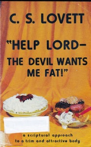 As if dieting books were already bad enough when it comes to fat shaming. This book basically says that overeating and obesity are the work of Satan. And that the only way to lose weight is to stop eating for several days and spend mealtimes away from your family. Seriously.