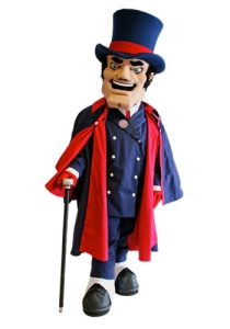 Now Duquesne was named after a French Marquis who died during the French and Indian War. Still, seems like he's a creepy yet entitled rich guy who thinks asking for welfare is a sin. Sorry, Mom, buy your alma mater mascot sucks.