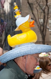 Of course, I wonder how this guy managed to get smaller and smaller ducks. It's like a rubber ducky nesting doll.