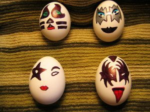 I'm not really a KISS fan but I did put a KISS nutcracker ensemble for my nutcracker post back in 2013. This is a great Easter equivalent.