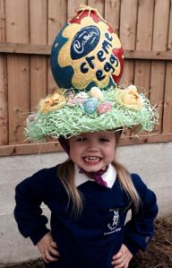 Then again, I'm sure the egg doesn't have any chocolate in it. But this little girl seems happy.