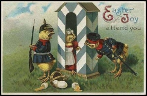 Okay, this card carries some unfortunate implications we need not discuss right now. Of course, those 2 eggs breaking might've been an accident but it's not stopping the chick soldiers from chirping like mad.