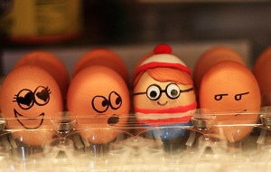 Then again, it's pretty easy to find Waldo when he's a decorated Easter egg and the others are quite plain so to speak.