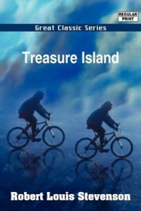 Now Treasure Island takes place in the 17th century during the Golden Age of Piracy. Sure it's not really an accurate piece about pirates since they didn't bury treasure. However, Stevenson makes no mention of bicycles in the text, which weren't invented until the late 19th century. By then, Stevenson was dead.