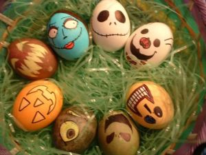 Sure The Nightmare Before Christmas may have absolutely nothing to do with Easter but that doesn't mean you can't make eggs from that film. Does it?