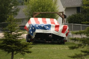 For God's sake, this is a patriotic national symbol, not a boat cover. Show a little respect for our country, you asshole!