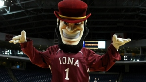 If he was a mascot for Notre Dame, he would've been perfect. However, as a mascot for Iona College, he seems like a burly man of Gaelic-Irish descent who's about to rob us blind. Really bad Irish stereotyping on the school's part.