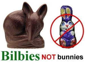 Instead of an Easter Bunny, Australia has an Easter Bilby which is a native endangered marsupial that resembles a mouse. Also, they hate rabbits which they consider pests.
