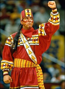 Now I know that Florida State has permission from the tribe to use the name. But even so, this Native American mascot is bound to offend some people, especially if he's played by a white guy.