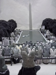 Never has history come to such life in a peep diorama as this one on the March on Washington.
