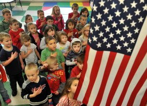 "It's always customary for classrooms to stand up and recite the ""Pledge of Allegiance"" every morning. But even though I love my country, saying the Pledge was kind of a pain in the ass for me. Nevertheless, Francis Bellamy had a way to salute the flag during the pledge but it was discontinued in the 1940s for bearing too much similarities to the Hitler salute (yes, really)."