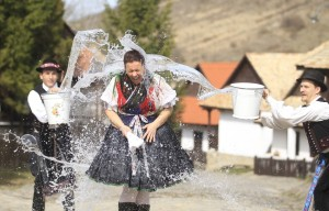 In other parts of Eastern Europe women in traditional garb should expect to be doused by water on their way to their Easter Sunday mass. Priests should expect wet pews in their churches.