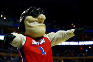 To be fair, this is an appropriate mascot since Dayton was the hometown of the Wright Brothers. However, the fact he keeps his goggles on gives me the impression he's a mad scientist in his spare time.