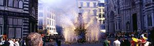 In Florence, Easter is celebrated with a Rube Goldberg machine being carried on a cart, stuffed with explosives, and being set on fire. The result is a 20 minute fireworks show that would make Michael Bay weep.