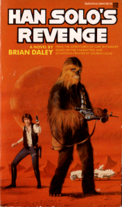 Han Solo may always shoot first. But it appears that Chewie might be out for blood by the expression his face and how he's holding his gun.
