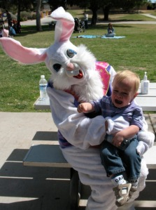 Because nothing replenishes an Easter Bunny like screams of horror from innocent helpless children.