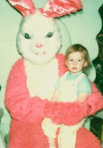 I guess this child is beyond hope when it comes to getting away from arms of the fluffy pink and white monstrosity.