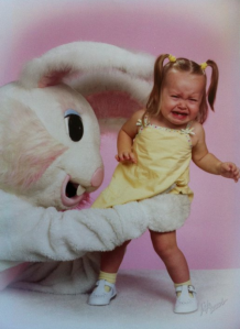 "Since when does an ""abduction motif"" make for a memorable Easter photo? This is utterly fucked up beyond all imagination? Seriously, why?"