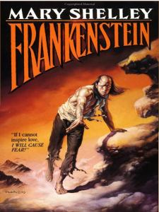Then again, Frankenstein's Monster on this cover seems to have an emo thing going on. Maybe he should stop worrying about trying to win Victor's love and join a hair metal band.