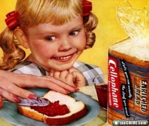 I don't know about this girl. She seems less excited for a PB&J and more consumed with bloodlust and murder. Stay away from her at your own risk.